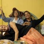 """With Drew and Jess on """"Grey Gardens"""" set"""